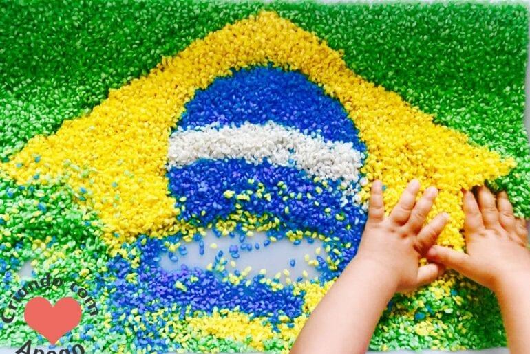 atividade da bandeira do brasil