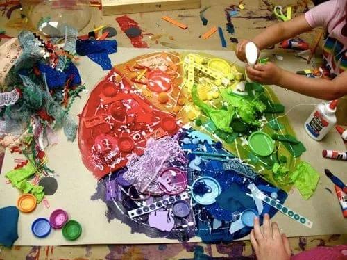 atividades de artes com colagem 01 gradacao de cores 01
