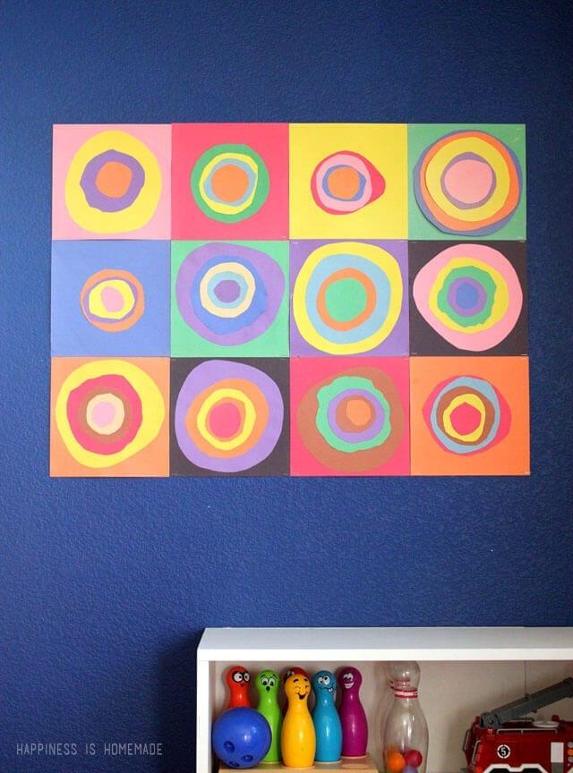 atividades de artes com colagem kandinsky