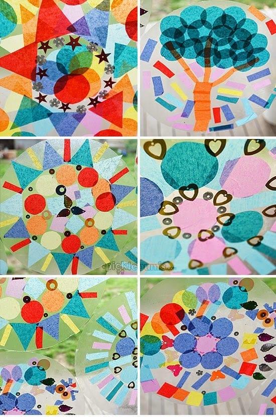 atividades de artes mandala papel de seda