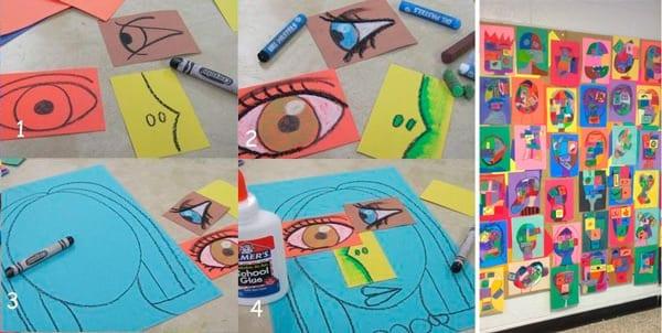 atividades de artes matisse collage picasso
