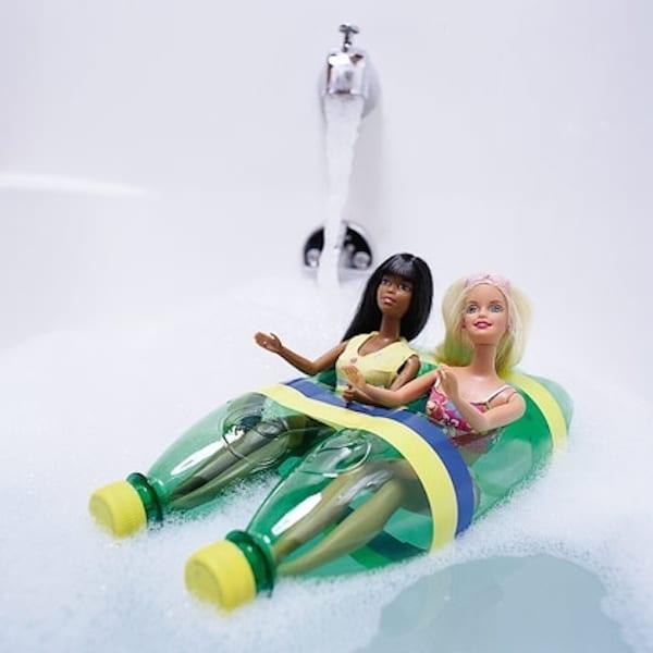 brinquedos reciclados garrafas pet barco