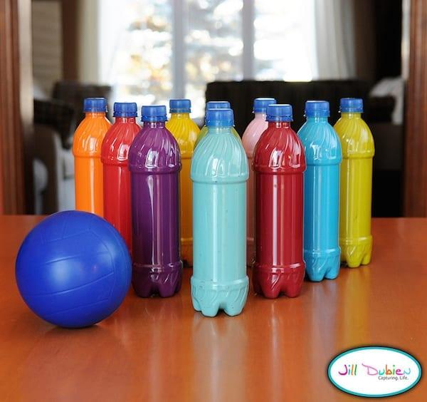 brinquedos reciclados garrafas pet boliche