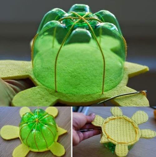 brinquedos reciclados garrafas pet tartaruga