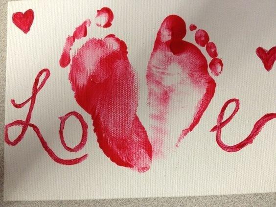 desenho de amor impressoes pes recem nascido love