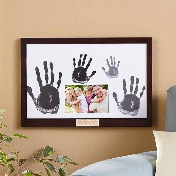 desenhos de amor com impressoes digitais da familia