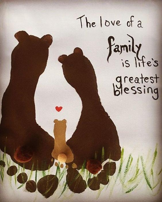 desenhos de amor com os pes familia reunida