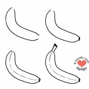 desenhos para desenhar banana