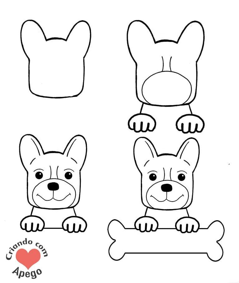 desenhos para desenhar cachorro criando com apego