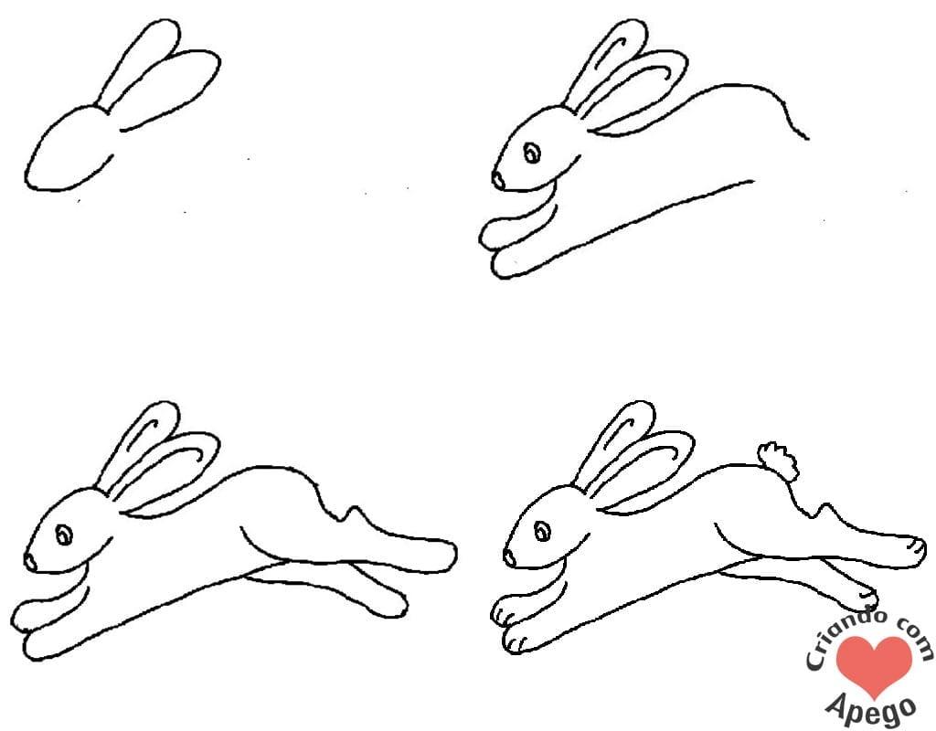 desenhos para desenhar coelho criando com apego