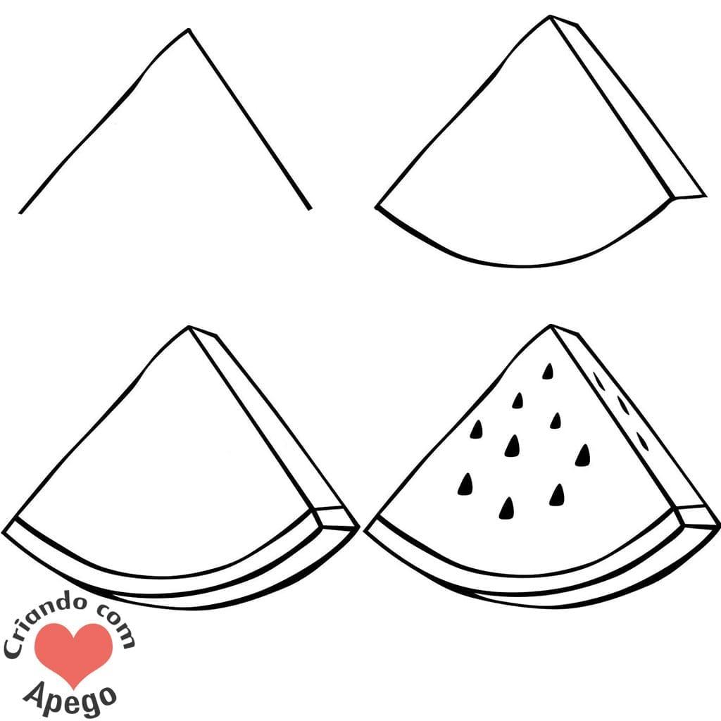 desenhos para desenhar melancia criando com apego