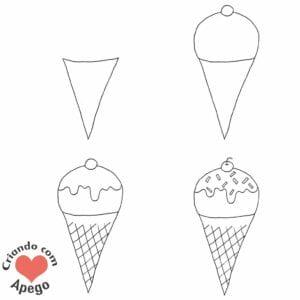 desenhos-para-desenhar-sorvete