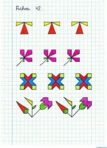 Desenhos quadriculados para imprimir e desenhar 19