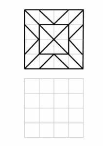 Desenhos quadriculados para imprimir e desenhar 22