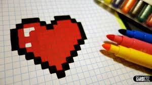 Desenhos quadriculados - coração