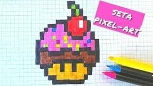 Desenhos quadriculados - cupcake