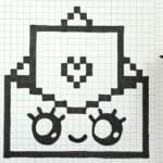 Desenhos quadriculados - envelope fofo