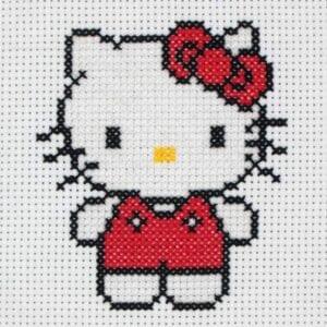 Desenhos quadriculados - Hello Kitty