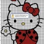 Desenhos quadriculados - Hello Kitty joaninha