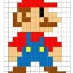 Desenhos quadriculados - Mario