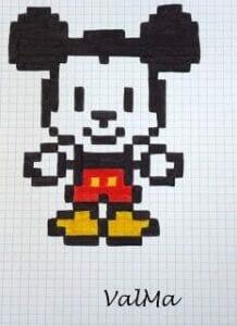 Desenhos quadriculados - Mickey