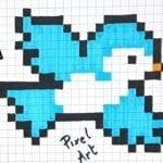 Desenhos quadriculados - pássaro