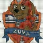 Desenhos quadriculados - Patrulha Canina Zuma