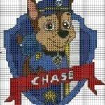 Desenhos quadriculados - Patrulha Canina Chase