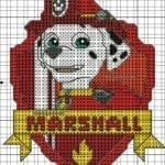 Desenhos quadriculados - Patrulha Canina Marshall