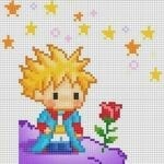 Desenhos quadriculados - Pequeno Príncipe
