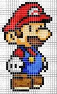 Desenhos quadriculados - Super Mario