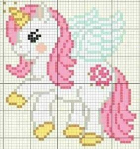 Pixel art - unicórnio com asas