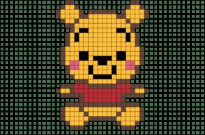 Desenhos quadriculados - Winnie the Pool