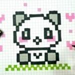 Desenhos quadriculados - Ursinho