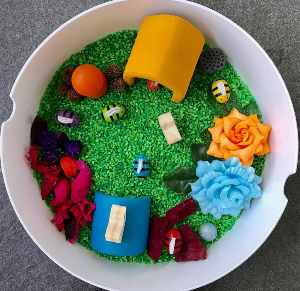bandeja sensorial atividades sobre a primavera 02