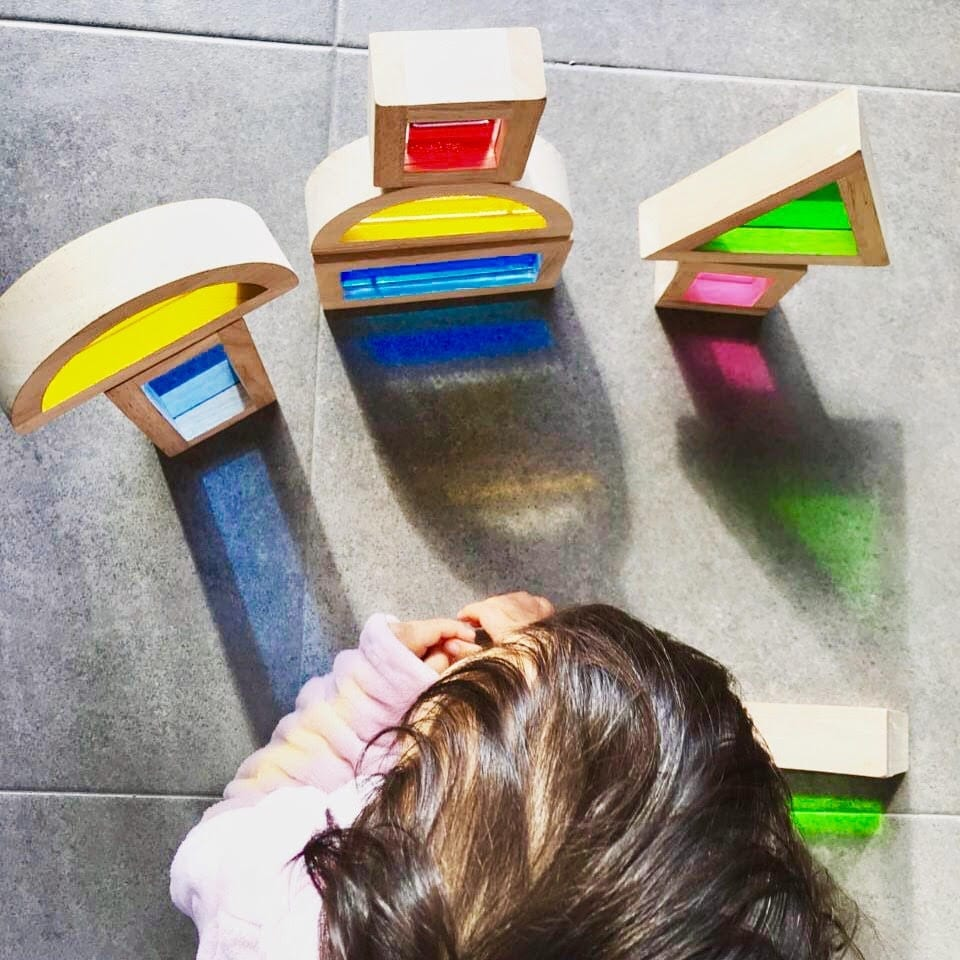 brinquedos para meninas de 2 anos blocos translucidos