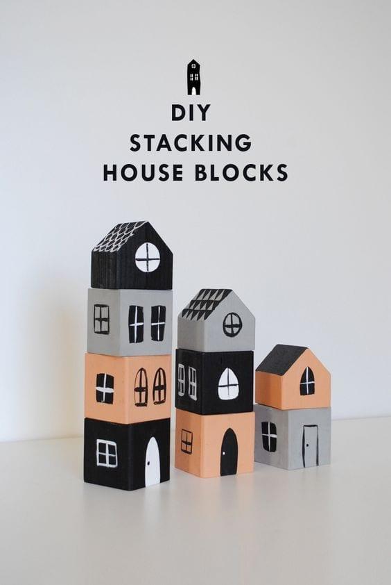 brinquedos reciclados com caixa de leite blocos de montar