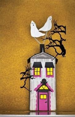 brinquedos reciclados com caixa de leite casa do terror halloween