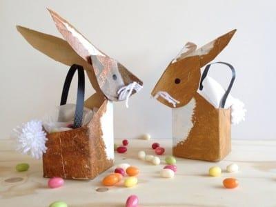 brinquedos reciclados com caixa de leite cesta de ovos da pascoa