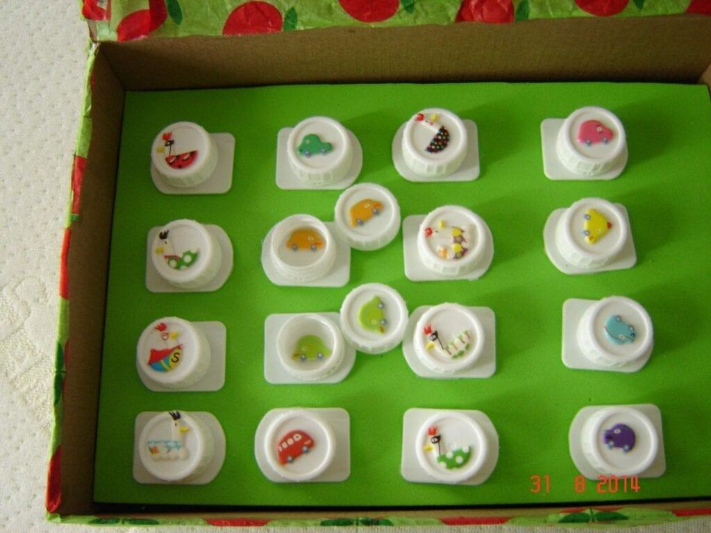 jogo reciclado caixa de leite memoria