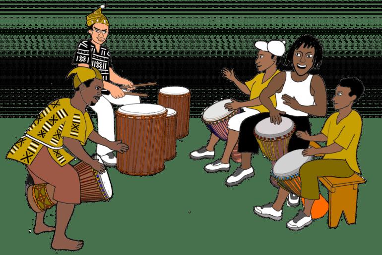 lenda dos tambores africanos