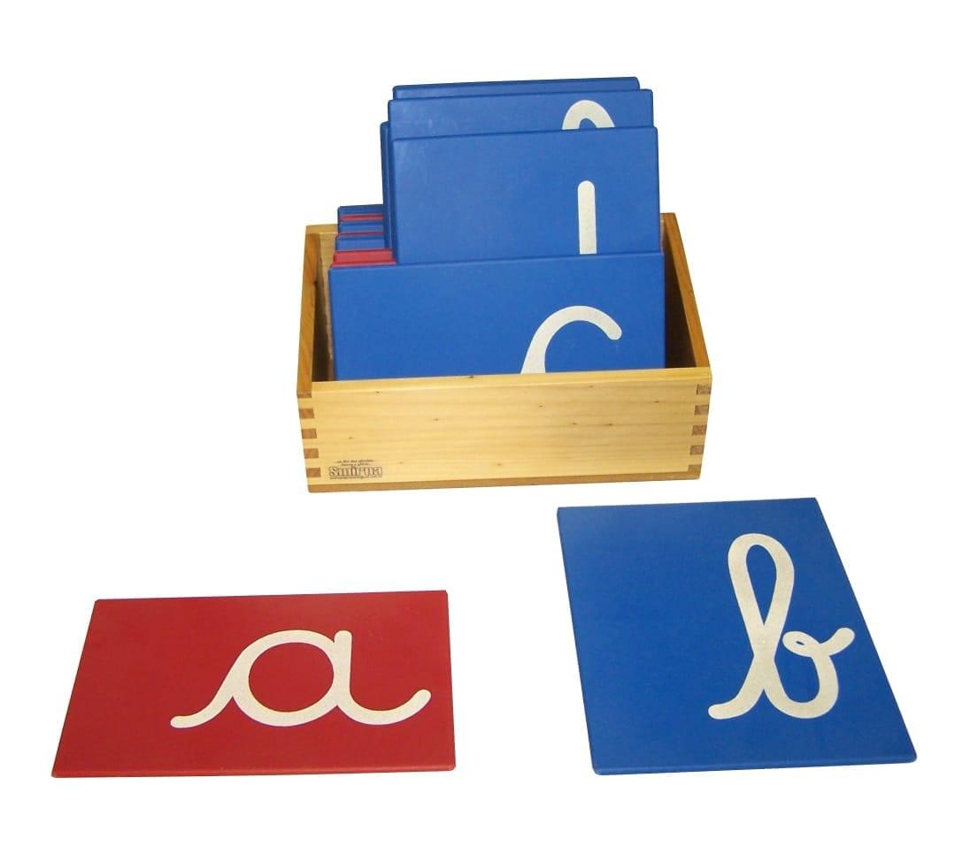 alfabeto letras de lixa montessori