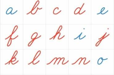 alfabeto montessori para imprimir