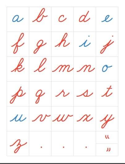 alfabeto movel montessori para imprimir