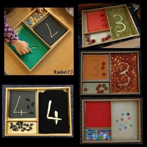 atividades com caixa de areia montessori 18