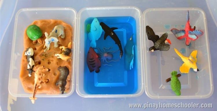 atividades sobre animais montessori reconhecendo habitats