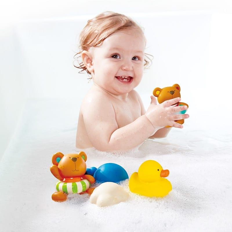 brinquedos para a hora do banho