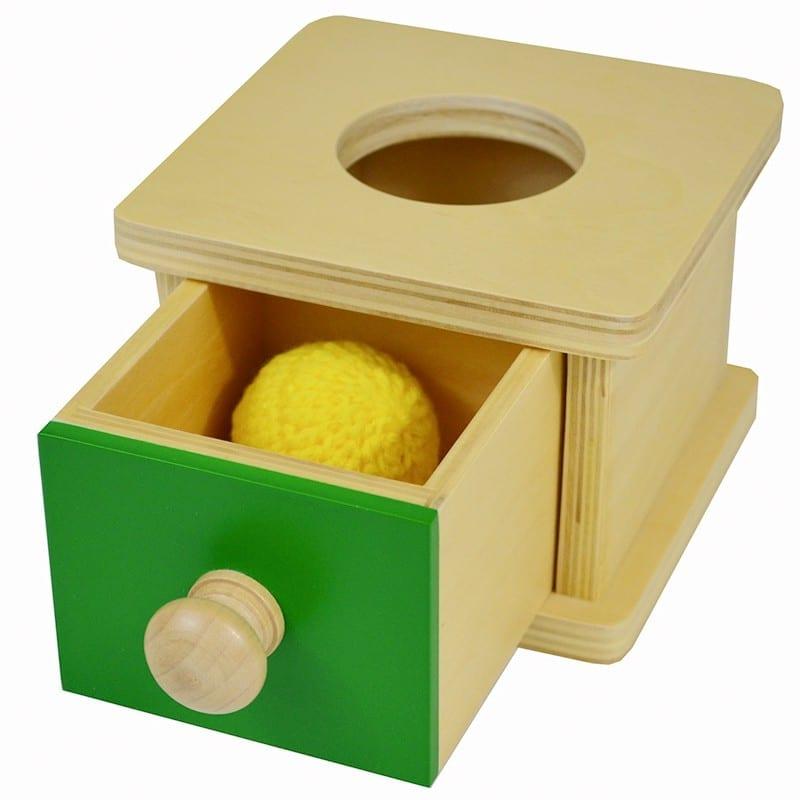 caixa de permanencia montessori brinquedos legais para bebes
