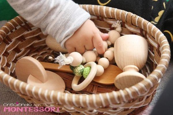 cesto dos tesouros montessori brinquedos legais para bebes