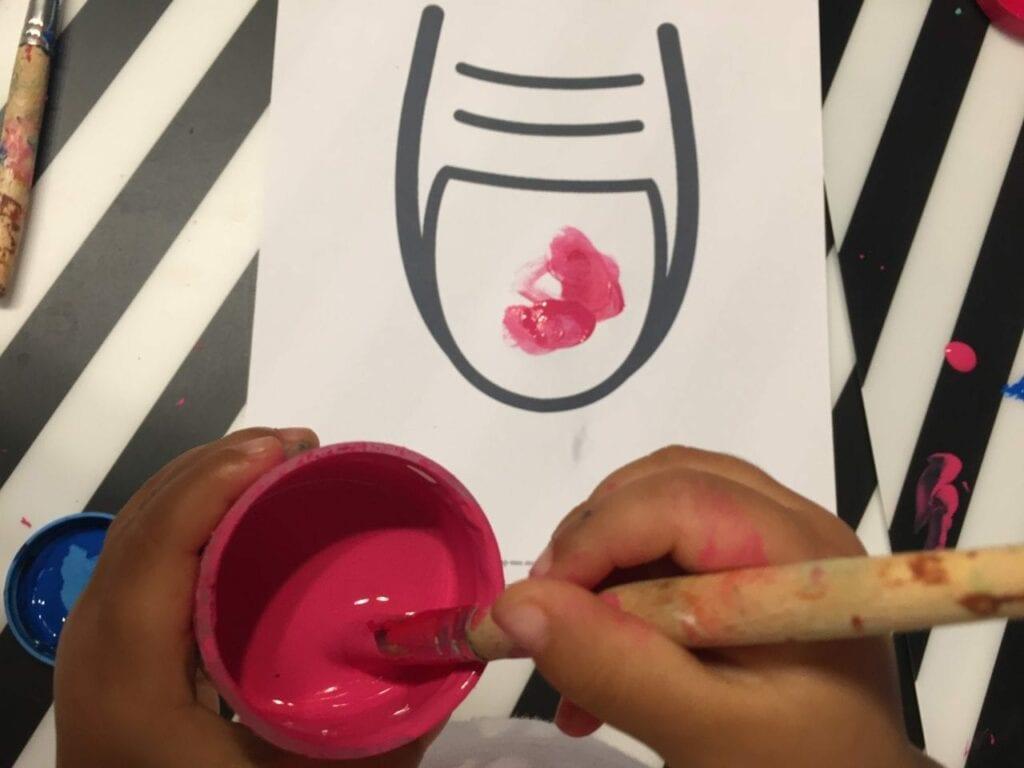 pintar a unha atividade infantil 02